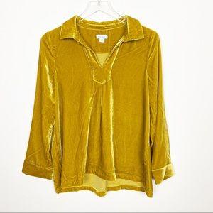 Sundance yellow velvet top